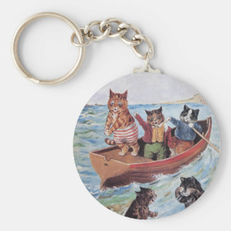 Louis Wain's Swimming Cats Key Ring