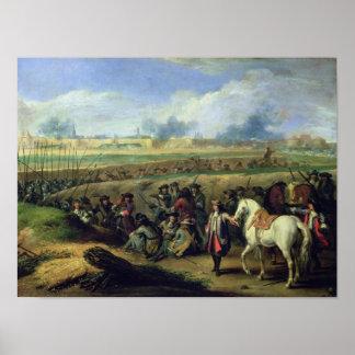 Louis XIV  at the Siege of Tournai Poster