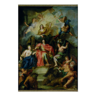 Louis XIV  Crowned by Glory, c.1686 Poster