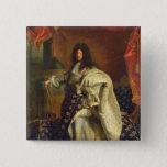 Louis XIV in Royal Costume, 1701 15 Cm Square Badge