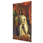 Louis XIV in Royal Costume, 1701 Canvas Print