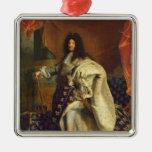 Louis XIV in Royal Costume, 1701 Metal Ornament
