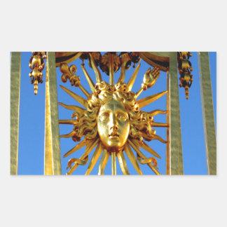louis xiv sun king rectangular sticker