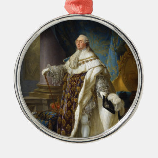 Louis XVI King of France and Navarre (1754-1793) Silver-Colored Round Decoration
