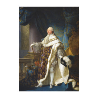 Louis XVI King of France and Navarre (1754-1793) Stretched Canvas Print