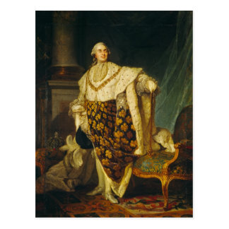 Louis XVI  King of France in Coronation Robes Postcard