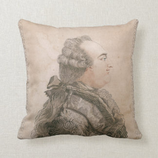 Louis XVI of France by Joseph Bernard Throw Pillow