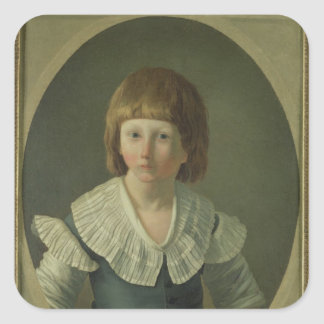 Louis XVII  aged 8, at the Temple, 1793 Square Stickers