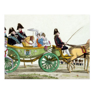 Louis XVIII  and his Family Postcard