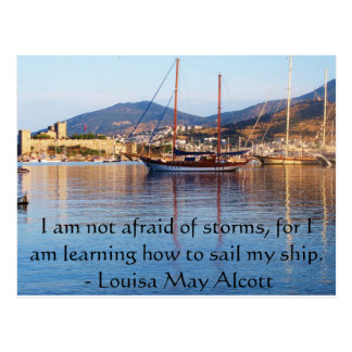 Louisa May Alcott inspirational QUOTE Postcard