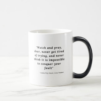 Louisa May Alcott, Little Women Quote #7 Magic Mug