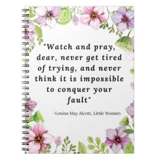 Louisa May Alcott, Little Women Quote Notebook