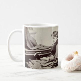 Louisa May Alcott photograph - fond of books Coffee Mug