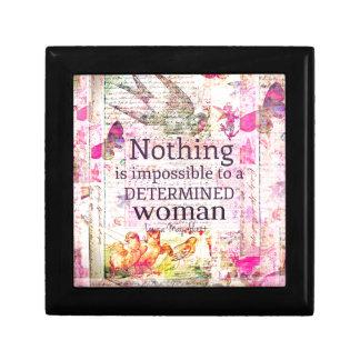 Louisa May Alcott WOMAN quote Gift Box