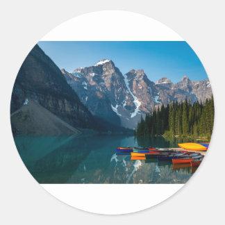 Louise lake in Banff national park Alberta, Canada Classic Round Sticker
