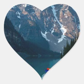 Louise lake in Banff national park Alberta, Canada Heart Sticker