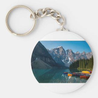 Louise lake in Banff national park Alberta, Canada Key Ring