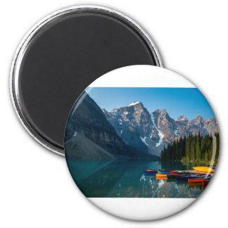 Louise lake in Banff national park Alberta, Canada Magnet