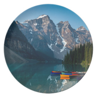 Louise lake in Banff national park Alberta, Canada Plate