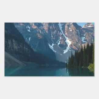 Louise lake in Banff national park Alberta, Canada Rectangular Sticker