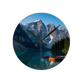 Louise lake in Banff national park Alberta, Canada Round Clock