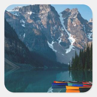 Louise lake in Banff national park Alberta, Canada Square Sticker