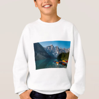 Louise lake in Banff national park Alberta, Canada Sweatshirt
