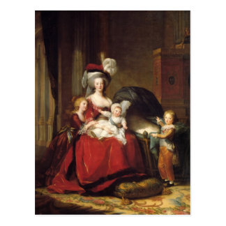 Louise Le Brun- Marie Antoinette and her Children Postcard