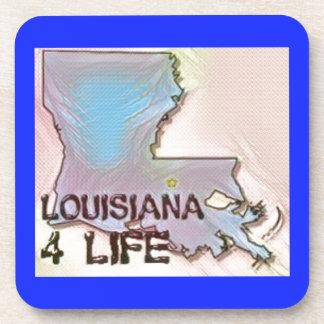 """Louisiana 4 Life"" State Map Pride Design Coaster"