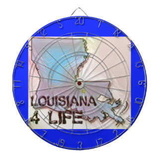 """Louisiana 4 Life"" State Map Pride Design Dartboard"