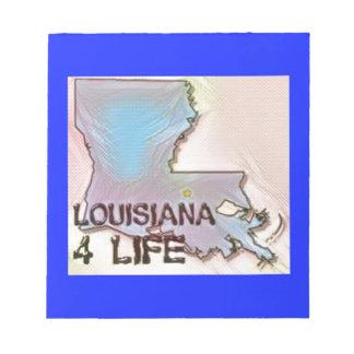 """Louisiana 4 Life"" State Map Pride Design Notepad"