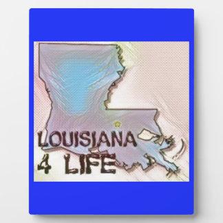 """Louisiana 4 Life"" State Map Pride Design Plaque"