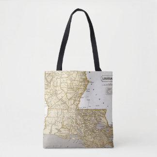 Louisiana Atlas Map Tote Bag