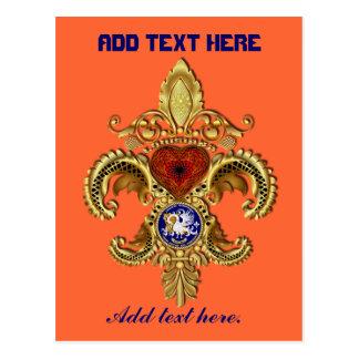 Louisiana Bicentennial Flor de lis View Hints Post Cards