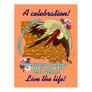 Louisiana Bicentennial  Mardi Gras Party See Notes Postcard
