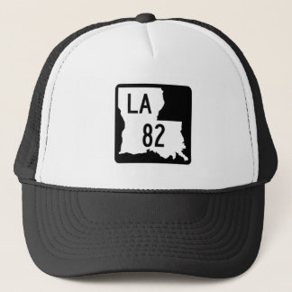 Louisiana Black & White Highway 82 Trucker's Hat