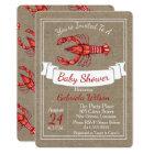 Louisiana Cajun Crawfish Baby Shower Card