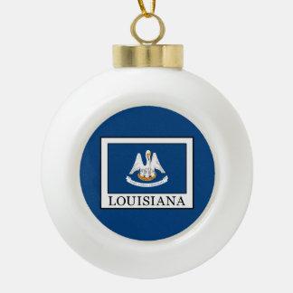 Louisiana Ceramic Ball Christmas Ornament