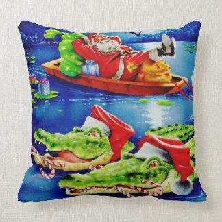 louisiana christmas pillow
