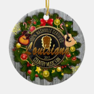Louisiana Country Music Fan Christmas Ornament