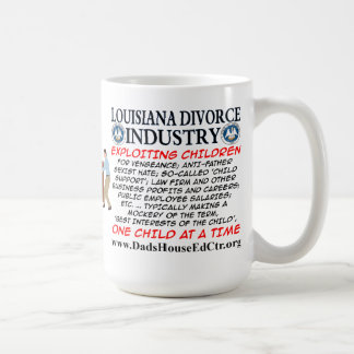 Louisiana Divorce Industry. Basic White Mug