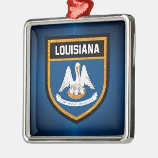 Louisiana Flag Metal Ornament