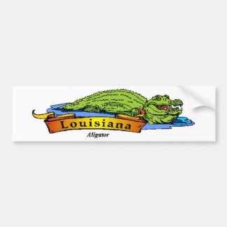 Louisiana Gator Bumper Sticker