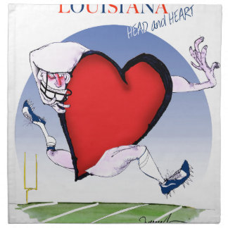 louisiana head heart, tony fernandes napkin
