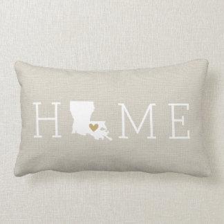 Louisiana Heart Home State Throw Pillow
