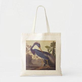 Louisiana Heron or Tricolored Heron by Audubon Tote Bag
