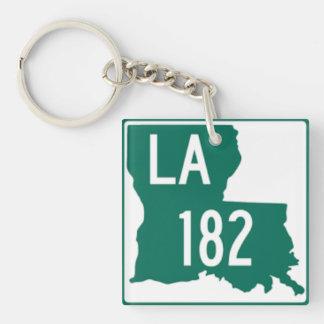 Louisiana Highway 182 Keychain