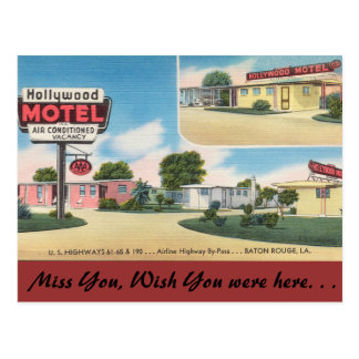 Louisiana, Hollywood Motel, Baton Rouge Postcard