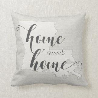 Louisiana - Home Sweet Home burlap-look Cushion