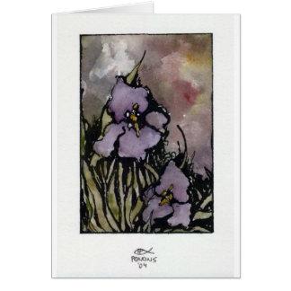 Louisiana Iris Card